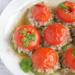 Рыба с кабачками и помидорами