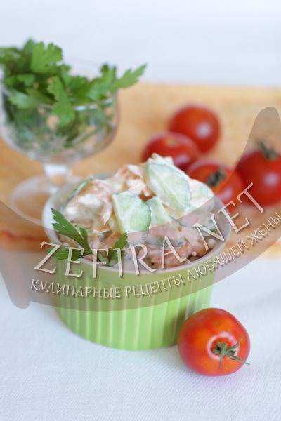 Салат из дайкона с морковью, яблоком и огурцом - рецепт и фото