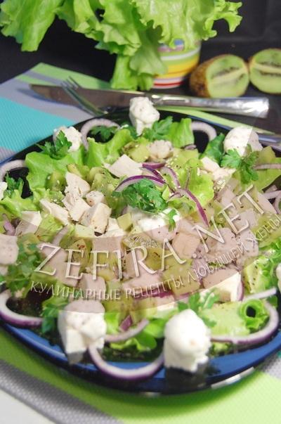 Салат из курицы с киви - рецепт и фото