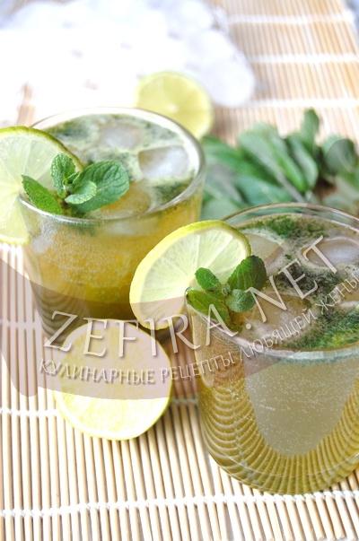 Домашний безалкогольный мохито с яблочным соком - рецепт и фото