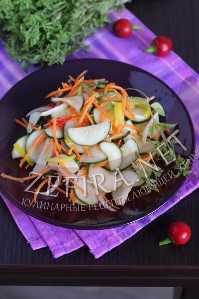 Кабачки маринованные по-корейски - рецепт и фото