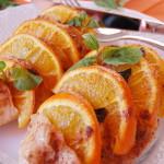 Филе куриное с апельсином и мятой