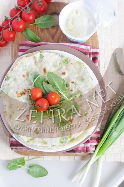 Лепешки с зеленым луком - рецепт и фото