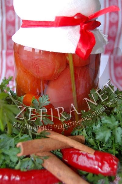 Консервированные помидоры на зиму с корицей
