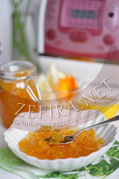 Варенье из кабачков с лимоном в мультиварке - рецепт и  фото