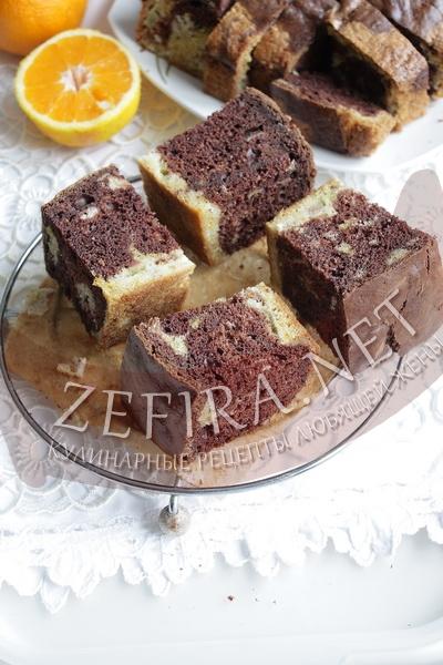Полосатый пирог с ревенем - рецепт и фото