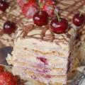 Торт из готового слоеного теста со сгущенкой и рикоттой - рецепт и фото
