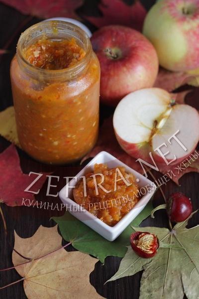 Аджика с яблоками - рецепт и фото