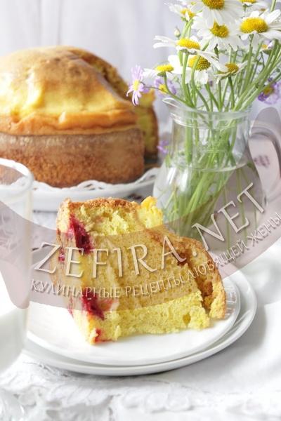 Бисквит с вишней - рецепт  и фото