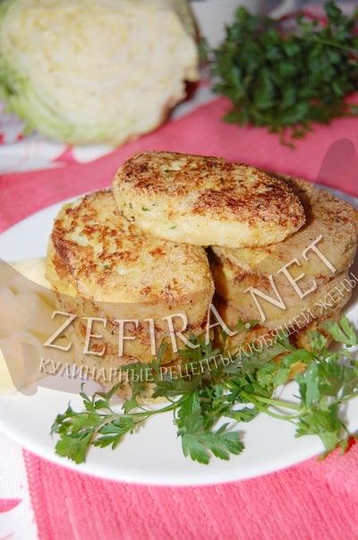 Капустные котлеты с манкой – рецепт с сыром и зеленью