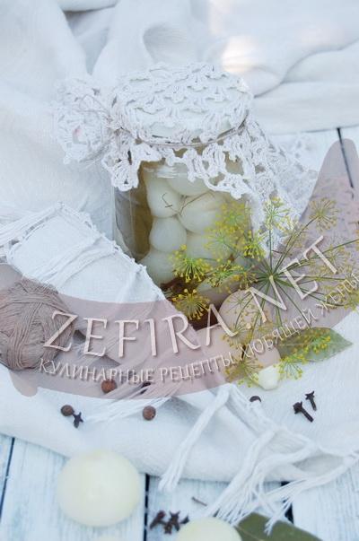 Маринованный лук на зиму «Жемчужина»  - рецепт и фото