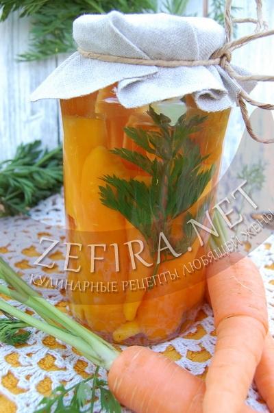Морковь на зиму - рецепт и фото