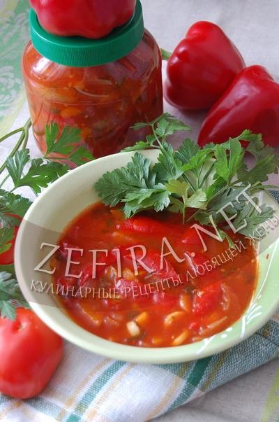 Перец сладкий на зиму салат