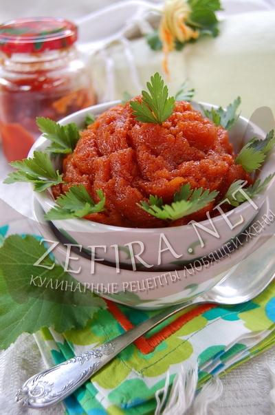 Аджика из кабачков на зиму - рецепт и фото