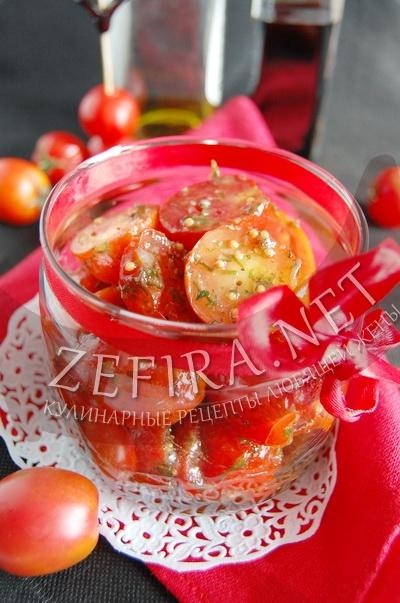 Быстрый рецепт маринованных помидоров черри - рецепт с фото