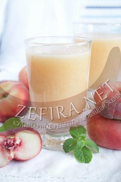 Лимонад с персиками - рецепт и фото