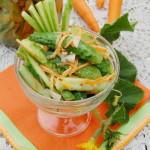 Салат из огурцов и моркови с чесноком
