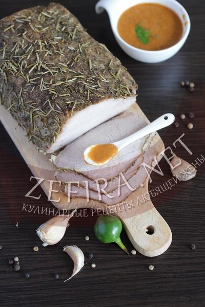 Соус из запеченного перца - рецепт и фото