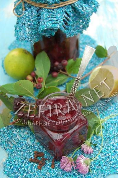 Варенье из черноплодной рябины и кабачка - рецепт и фото
