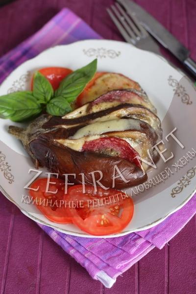 Баклажан запеченный веером - рецепт и фото