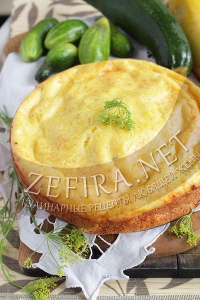 Закусочный пирог из кабачков с сыром - рецепт с фото