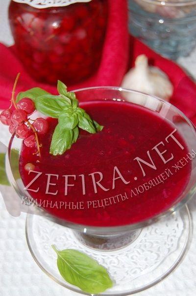 Чесночный соус из красной смородины и крыжовника - рецепт и фото