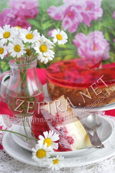 Чизкейк с малиной - рецепт и фото