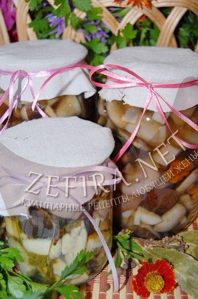 Грибы маринованные на зиму - рецепт и фото