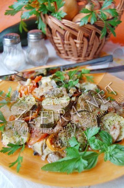 Грибы с кабачками и помидорами - рецепт и фото