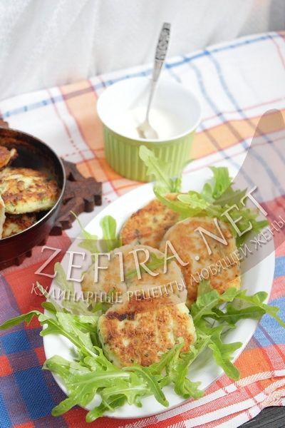 Оладьи из кабачков с творогом - рецепт и фото