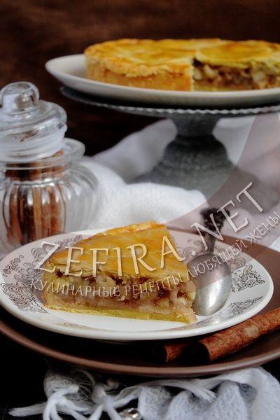 Пирог яблочный пряный - рецепт и фото