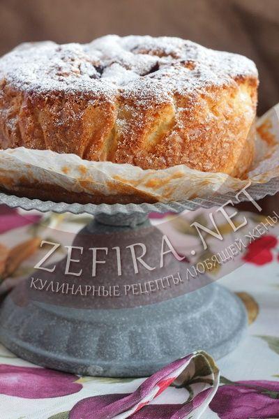 Сливовый пирог «Удачный» - рецепт и фото