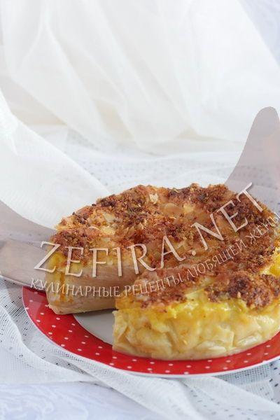 Слоеный пирог с яблоками - рецепт и фото