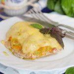 Cвинина, запеченная с кабачками под сыром