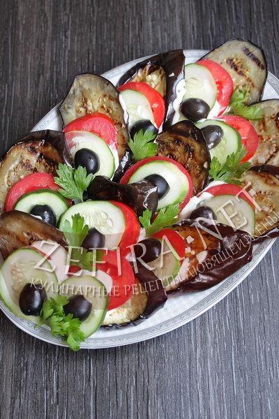Закуска из баклажанов «Павлиний хвост» - рецепт и фото