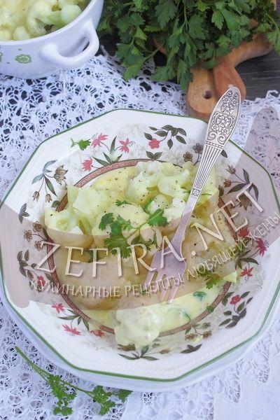 Цветная капуста с сырным соусом - рецепт и фото