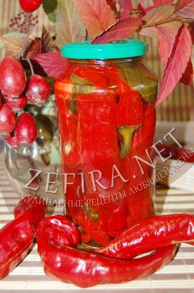 Горький перец маринованный – рецепт заготовки на зиму с фото