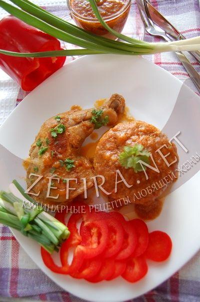 Куриные окорочка тушеные с овощами - рецепт и фото