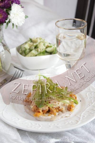 Отбивная из свинины с грибами - рецепт и фото