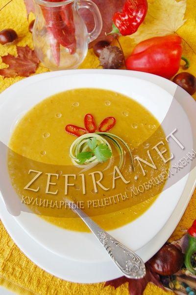Овощной суп-пюре «Краски осени» - рецепт и фото
