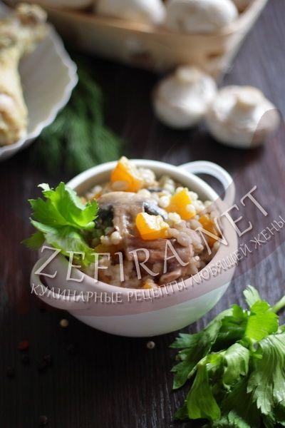 Перловка с грибами и тыквой - рецепт и фото