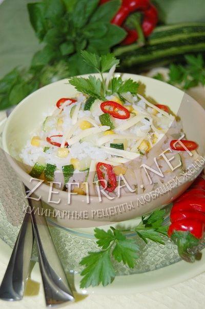 Рис с цукини и кукурузой - рецепт и фото
