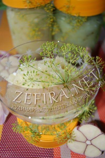 Салат из кабачков с чесноком - рецепт и фото