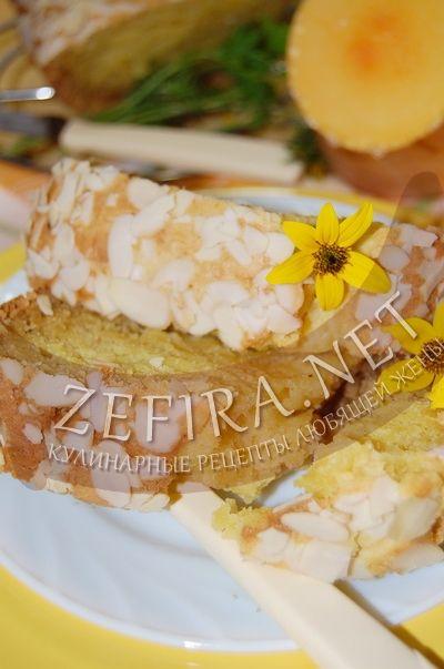 Тыквенный кекс с миндалем - рецепт и фото