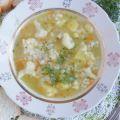 Детский суп с рисом и цветной капустой