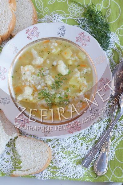 Детский суп с рисом и цветной капустой - рецепт и фото