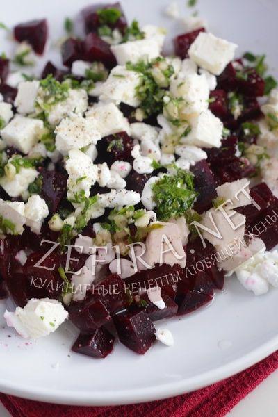 Необычный салат из вареной свеклы - рецепт и фото