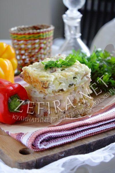 Пирог с сырой картошкой - рецепт и фото