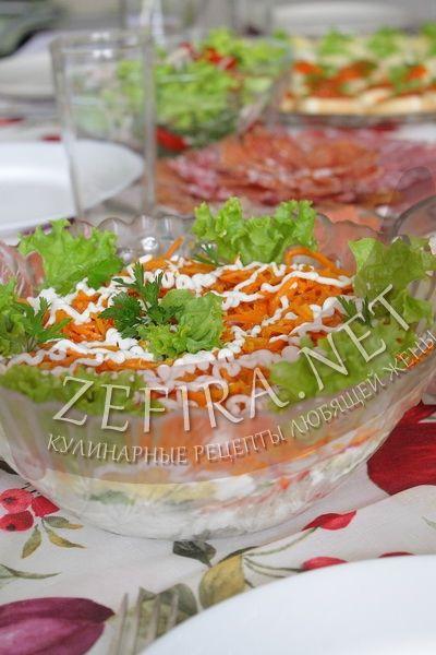 Салат с курицей, корейской морковью и перцем - рецепт и фото