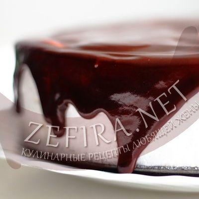 Шоколадная глазурь из какао на торт